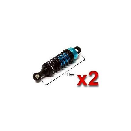 282004 - Amortiguadores Aluminio 53 mm - Pista 1/16 x2 uds.