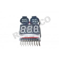 Avisador sonoro y Voltaje de bateria para Li-Po