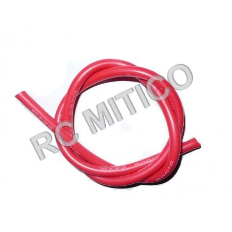 Cable de Silicona 10 AWG Rojo - 50 cm