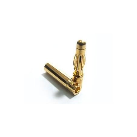 Conector Banana Gold 4 mm - Pareja
