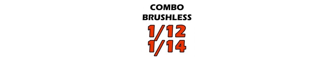 Combos Brushless para Coches RC 1/12 - 1/14