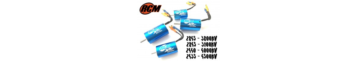 Motores Brushless RCM para Coches RC 1/16 - 1/18