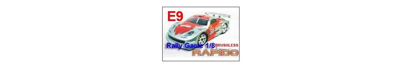 Repuestos Rally Game RAPIDO E9 1/8 Brushless