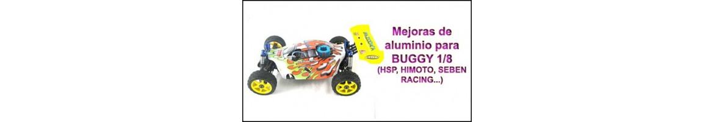 Upgrades de Aluminio para Buggy 1/8