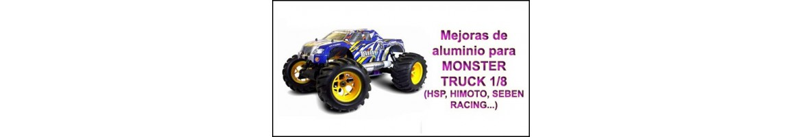 Upgrades de Aluminio para Monster 1/8