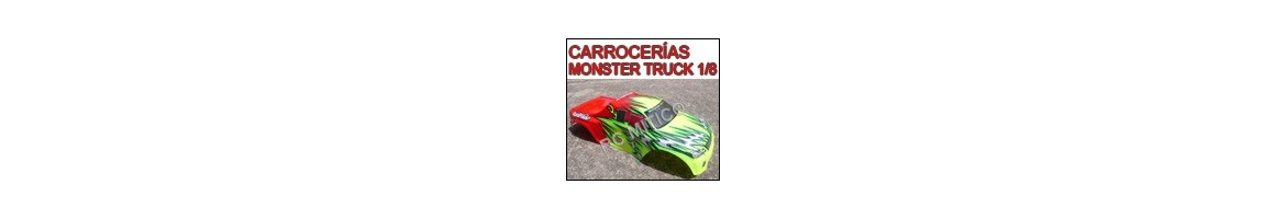 Carrocerias Monster Truck 1/8 - Radiocontrol