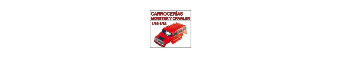 Carrocerias para Monster y Crawler 1/16 - 1/18