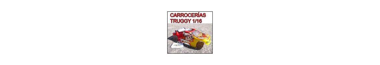 Carrocerias para coches RC Truggy 1/16 - Radiocontrol