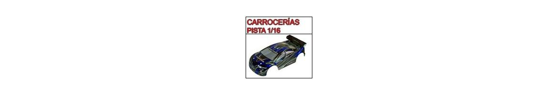 Carrocerias para Pista - ON ROAD 1/16 - Radiocontrol