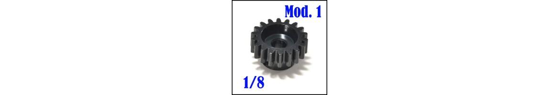 Piñones Mod. 1 para 1/8 - Acero