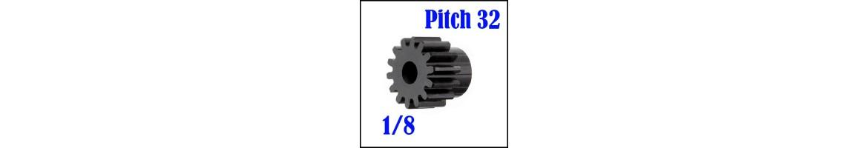 Piñones Mod. 1 para coches RC 1/8 - Acero