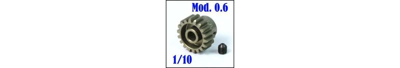 Piñones Mod. 0.6 para coches RC 1/10