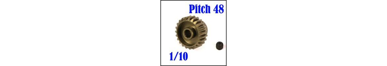 Piñones Pitch 48 para coches RC 1/10 - Aluminio